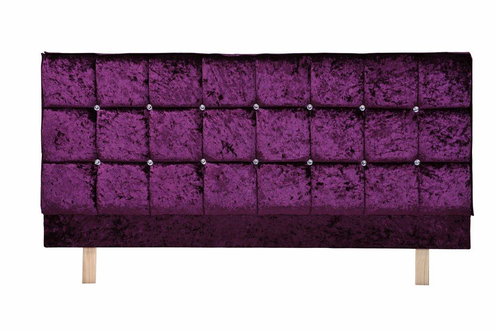 Crystal Headboard X Series in Velvet Purple  Double Size (4.6FT)       Customer review and more description