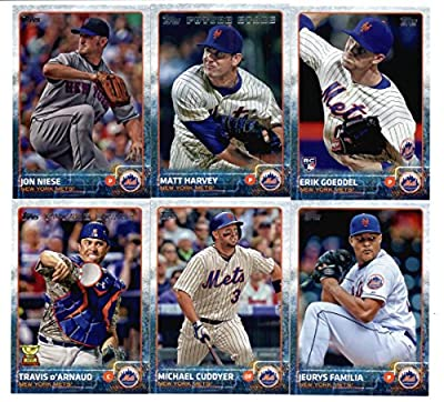 2015 Topps Baseball Cards New York Mets Team Set (Series 1 & 2 - 25 Cards) Including Curtis Granderson Team Card, David Wright, Jacob deGrom, Daisuke Matsuzaka, Daniel Murphy, Jenrry Mejia, Carlos Torres, Eric Young Jr., Zack Wheeler, Lucas Duda, Dilson H