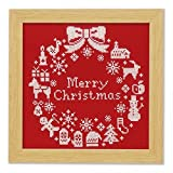 オリムパス製絲 クリスマス クロスステッチししゅうキット クリスマスリース X-100・レッド
