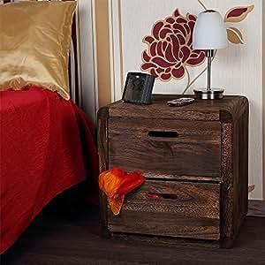 Table de nuit en bois brun fonc cuisine maison - Table de nuit en anglais ...