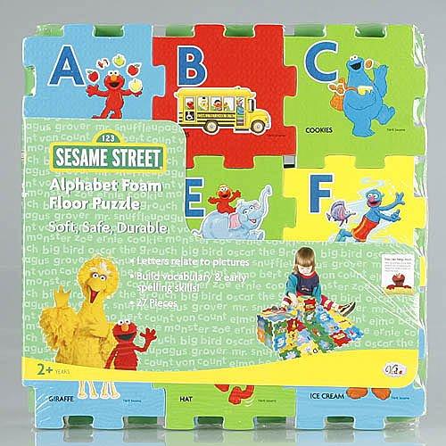 NEW Sesame Street Alphabet Foam Floor Puzzle