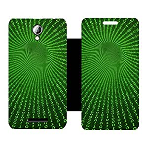 Skintice Designer Flip Cover with hi-res printed Vinyl sticker wrap-around for Lenovo A5000