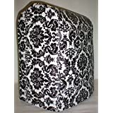 Black & White Vinyl Damask Kitchenaid Lift Bowl Stand Mixer Cover