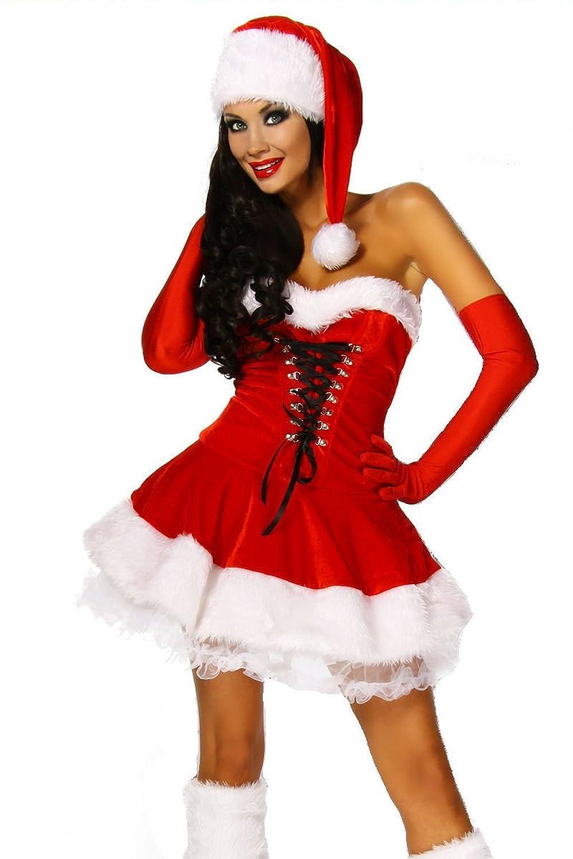 Weihnachts-Petticoatkleid Kostüm aus Samt und Fellimitat jetzt bestellen