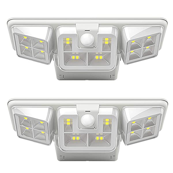 iThird Solar Lights Outdoor Motion Sensor 16 LED Solar Security Lights Wider Lighting Angle Wall Sconce for Backyard Patio Garage Pathway 2 Pack (Color: Daylight, Tamaño: solar wall light)