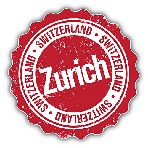 zurich-switzerland-grunge-stamp-travel-art-decor-bumper-sticker-5-x-5