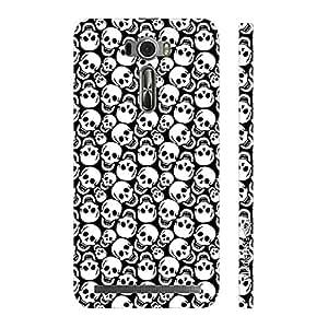 Enthopia Designer Hardshell Case Smiley Skull Back Cover for Asus Zenfone 2 Laser ZE601KL