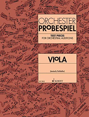Test Pieces for Orchestral Auditions Viola - Viola - Book