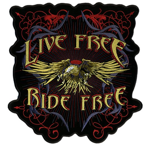 Hot Leathers Evil Eagle Live Free Patch (5