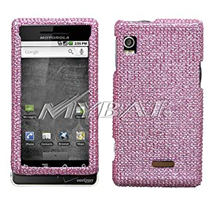 Pink Diamante Protector Faceplate Cover(Diamante 2.0) For MOTOROLA A855(Droid)