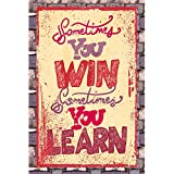 "Printelligent ""Learn"" A5 Size Mini Poster Cum Gift Card Especially For Office Cubicles And Study Desks. Can Also Be Used To Write And Gift Personal Message Behind The Card. An Essential Part Of Office Stationery."