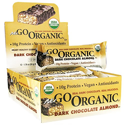 NuGO Organic Dark Chocolate Almond Protein Bar 12 Bars (Nugo Bars Organic compare prices)