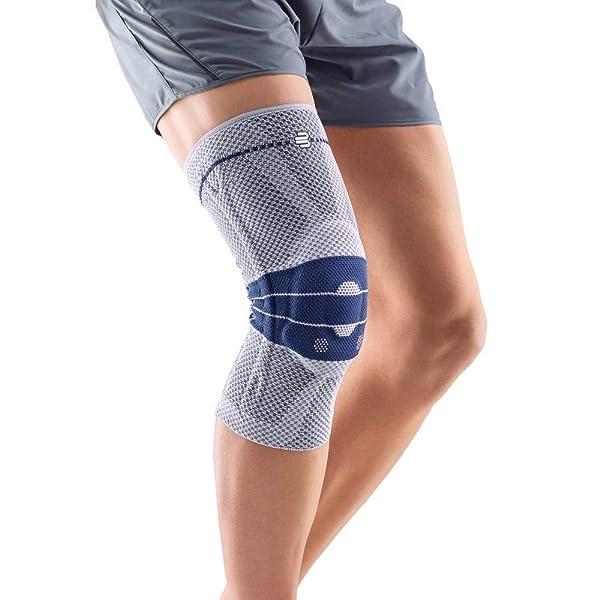 Bauerfeind GenuTrain Knee Support Brace (New Version) - Targeted Support for Pain Relief & Stabilization for Weak, Swollen & Injured Knees & Arthritis - Size 6, Comfort - Color Titanium (Color: Titanium (New Version), Tamaño: 6C)