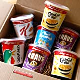 Kellogg's Cereal To Go Week Treat Box -Cornflakes, Krave, Crunchy Nut, Rice Krispies, Special K - Great for People on the Go or in the Office, Holidays, Travelling - By Moreton Gifts
