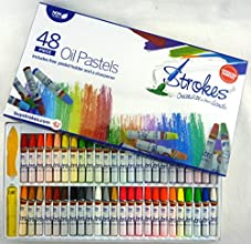 Strokes Art Oil Pastels 48 Assorted Colors Non Toxic Smooth Blending Texture Ideal For All Artist Le