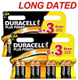 16x DURACELL Plus Power MN1500 AA Batteries Long-Dated (Total Qty=16)