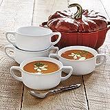 CHEFS Porcelain Double-handled Soup Bowls, set of 4