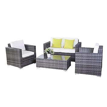 15tlg.Poly Rattan Sofa Gartenmöbel Lounge Set Gruppe Sitzgruppen Gartengarnitur Seseel