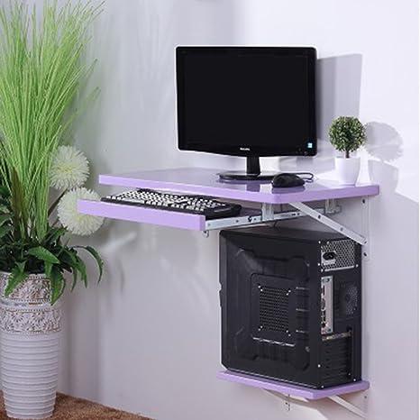 HWF Mesa plegable de pared Mesa de escritorio Mesa de pared Escritorio de computadora Escritorio de escritorio Oficina de trabajo Panel de madera ( Color : Purple , Tamaño : 90cm )