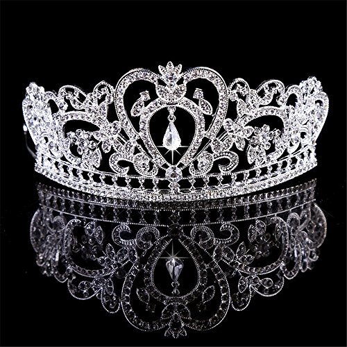 Baroque Clear Rhinestone Crystal Tiara Crown