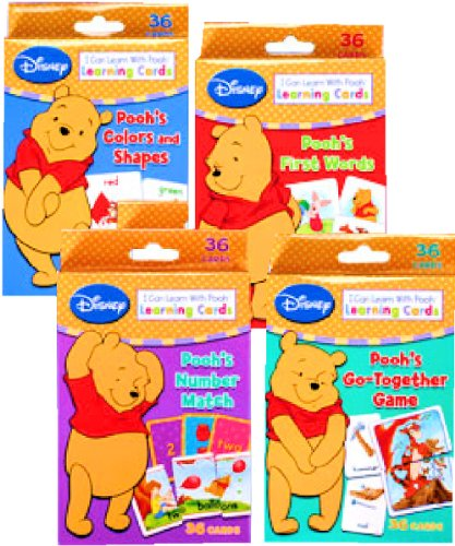 Disney Winnie the Pooh Learning Cards (Set of 4 Decks) - 1