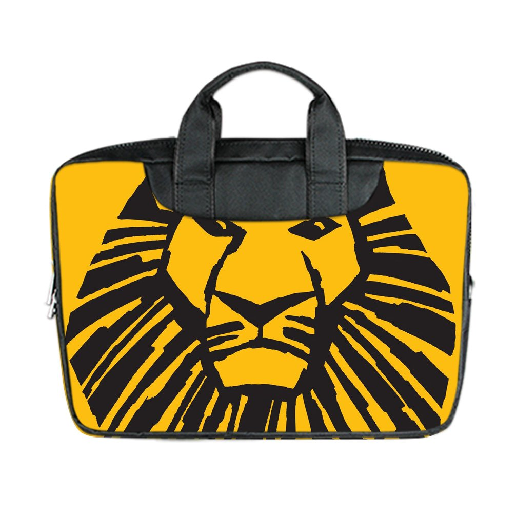 INSTALL AND EASY TO CARRY Wear& Slim &Dapper The Lion King Custom Waterproof Nylon Bag for Laptop 13Inches(Twin sides)