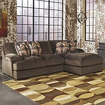 Ashley Truscotti 2 Piece Polyester Sectional in Cafe