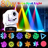 FidgetGear 80W Moving Head Stage Spot Gobo Light RGBW LED DMX Club Disco DJ Party Lighting