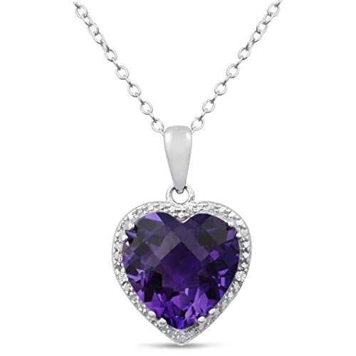 5ct-Amethyst-and-Diamond-Heart-Necklace-Crafted-In-Solid-Sterling-Silver-18-Inches