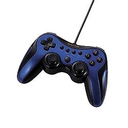 ELECOM ゲームパッド USB接続 アナログスティック搭載 振動/連射 12ボタンブルー JC-U2912FBU