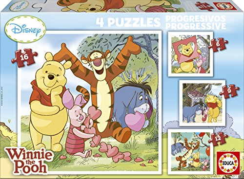 Jigsaw-Puzzles-43-pieces-each-4-in-1-Winnie-the-Pooh-by-Educa