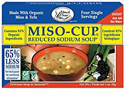 Miso-Cup Reduced Sodium Soup, Single-Serve Envelopes in 4-Count Boxes (Pack of 12)