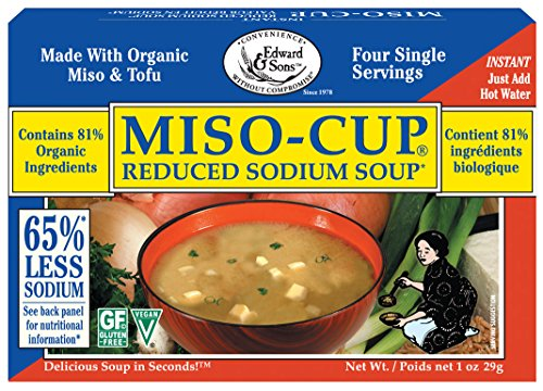 Miso-Cup Reduced Sodium Soup, Single-Serve Envelopes in 4-Count Boxes (Pack of 12) (Miso Salt compare prices)