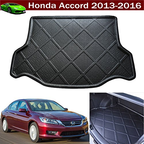 1pcs Black Color Car Boot Pad Carpet Trunk Cargo Liner Floor Mat Molded Cargo Tray Custom Fit For Honda Accord 2013 2014 2015 2016 2017 (Cargo Liners For Honda Accord compare prices)