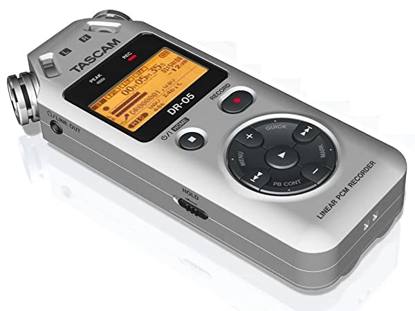 Tascam TASCAM DR -05 SILVER Portable Digital Recorder, Silver (Color: Silver)