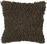 Rizzy Home T-3635 Decorative Pillows, 18 by 18-Inch, Mocha/Mocha, Set of 2