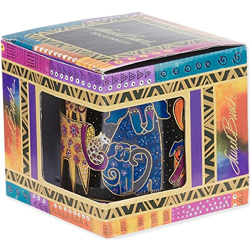 Laurel Burch Artistic Collection Mug, Dogs and Doggies, Multicolor