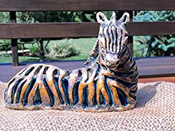 Zebra in clay and glass