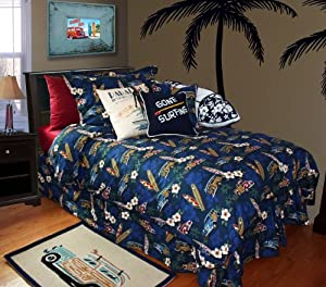 Surf Bedding By Dean Miller -- Tradewind Trolly King Kahuna Size Duvet Cover