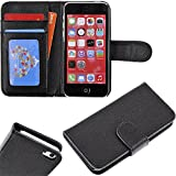 myLife Original Black {Classic Design} Faux Leather (Card, Cash and ID Holder + Magnetic Closing) Slim Wallet for the iPhone 5C Smartphone by Apple (External Textured Synthetic Leather with Magnetic Clip + Internal Secure Snap In Hard Rubberized Bumper Holder) Reviews