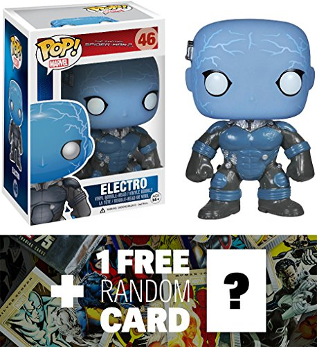 Electro (Glow-in-Dark): Funko POP! x The Amazing Spider-Man Vinyl Bobble-Head Figure + 1 FREE Official Marvel Trading Card Bundle [37819]