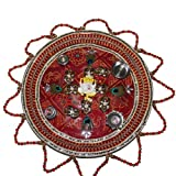 Handicrunch Beautiful decorative handmade pooja thali set for festival