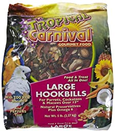 F.M. Brown\'s Tropical Carnival Large Hookbill, 5-Pound