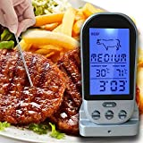 Wireless and Digital BBQ Thermometer with Probe for Kitchen and Household Use