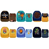 Mama Koala One Size Baby Washable Reusable Pocket Cloth Diapers, 6 Pack with 6 One Size Microfiber Inserts (Game Season) (Color: Game Season, Tamaño: One Size)