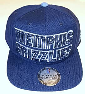 adidas Memphis Grizzlies 2013 NBA Draft Authentic Snapback Hat - Navy Blue by adidas