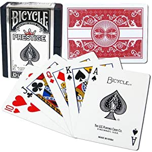 Bicycle Prestige Plastic Playing Cards (Red)