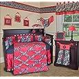 SISI Baby Bedding -Hot Pink Zebra 13 PCS Crib Bedding