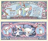 Novelty Dollar Pinky and the Brain I Want To Take Over The World Million Dollar Bills x 4