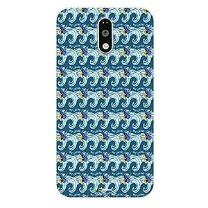 Hamee Finding Dory Official Licensed Designer Cover Hard Back Case for Motorola Moto E3 / Moto E 3rd Gen (Dory Pattern/White )